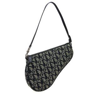 Christian Dior Trotter Pattern Saddle Hand Bag